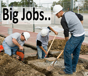 Big plumbing jobs like sewer replacement and copper repiping are no problem for our plumbers